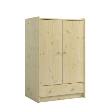 2 Door, 1 Drawer Low Wardrobe 2900990019001N