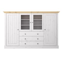 4 Door (2 Glass), 3 Drawer Sideboard 317039028801F