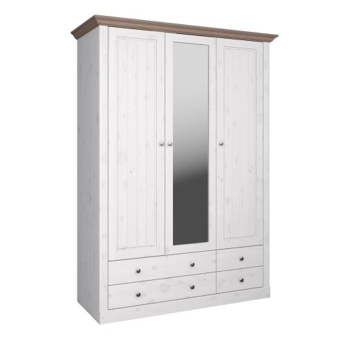 2+1 Glazed Door, 2+2 Drawer Wardrobe 3171120269001F