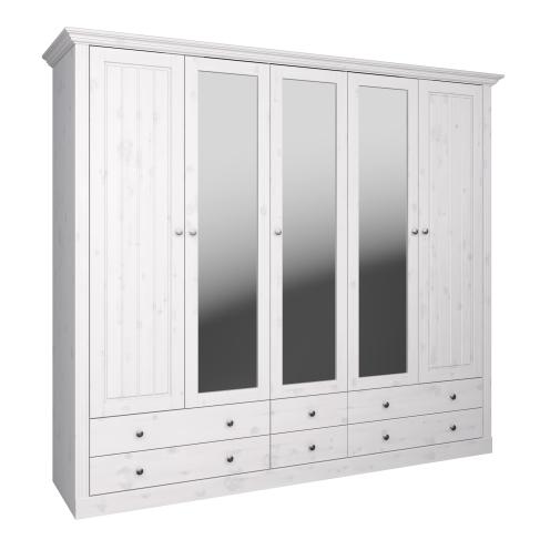 5 Door, 4 Drawer Glazed Wardrobe 3171150013001F