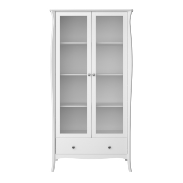 2 Doors, 1 Drawer Display Cabinet